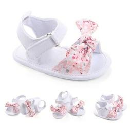 0-12M Baby Girl Summer Soft Sole Shoes Bowknot Sandals Toddl