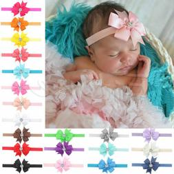 10Pcs Newborn Baby Girl Headband Infant Girls Toddler Bow Ha
