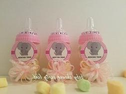 12 Elephant Fillable Bottles Baby Shower Favors It's a Girl