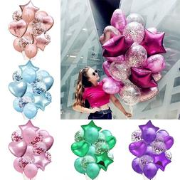 14pcs/set Wedding Birthday Balloons Latex Foil Ballons Kids