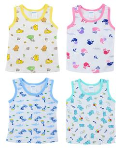2/4 Pack Baby GIRLS Printed UNDERSHIRT Camisole TANK Top Inf