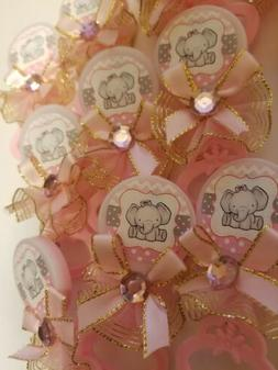 24pcs Baby Shower elephant Pin-On Favors for girl