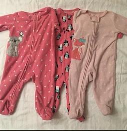 3 carter one piece with footies pajama 3 Months Baby Girl