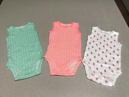 3 Piece Baby Girl 3 Months CARTERS Short Sleeve One Piece Cl