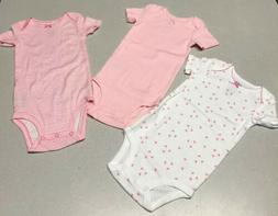 3 Piece Baby Girl 6-12 Months Short Sleeve One Piece Clothes
