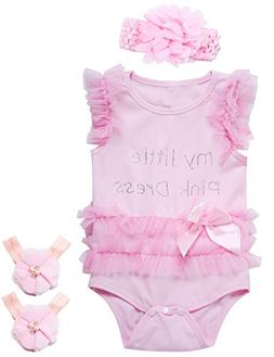 3 pieces baby girls lace tutu dress