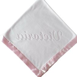 36x36 Customized Pink Blanket for Baby Girl with Name - Sati