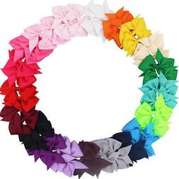 40 Colors Lots Boutique Baby Girls Hair Bows Kids Alligator
