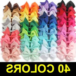 40pcs Kids Baby Girls Children Toddler Flowers Hair Clip Bow
