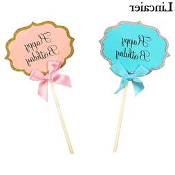 5/15 Happy Birthday Cake Toppers Baby Boy Girl Kids Party De