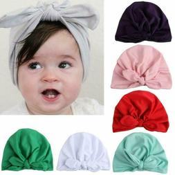 7Pcs Baby Girl Hats Turban Knotted Headbands Head Wrap For N