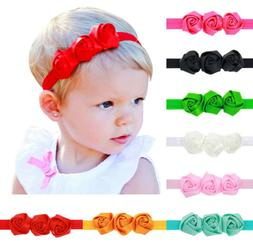 8 Pcs Colors Newborn Baby Girl Headband Infant Toddler Bow H