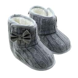 Gotd Baby Girls Snow Boots Bowknot Soft Sole Winter Warm Sho