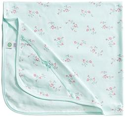 Little Me Baby Girls' Floral Spray Blanket, Mint Print, One