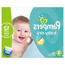Pampers Baby-Dry Disposable Diapers Size 4, 180 Count, ECONO