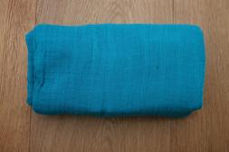 """aden anais Baby Girl Swaddle Blanket ~ Solid Teal ~ Size 47"""""""