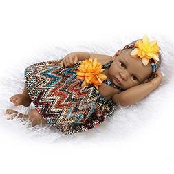 African American Reborn Baby Doll Girl Look Real Full Silico