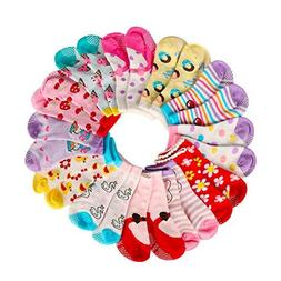 Assorted Non Skid Ankle Cotton Socks Baby Walker Girls Toddl