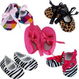 Autumn Kids Baby Girls Shoes Cloth Bowknot Stripe Printing N