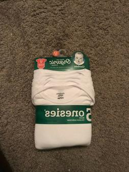 Gerber Baby 12 month 5 Pack Short Sleeve White Organic Cotto