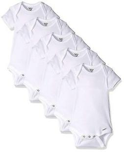 Gerber Baby 5-Pack or 15 Multi Size Organic Short Sleeve, Wh