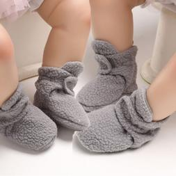Baby Boy Girl Anti-slip Socks Newborn Slipper Fur Soft Sole