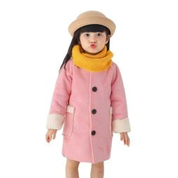 Baby Fleece Jacket Coats Kids O-Neck Girls Thicken Outwear O