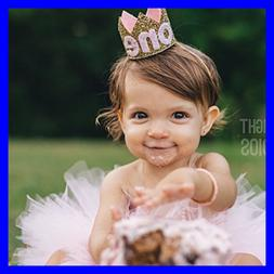 Baby Girl 1St Birthday Hat Tiara Headbands First Party Crow