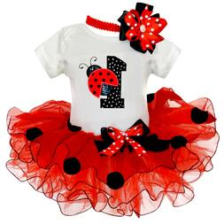 Baby Girl 1st Birthday Outfits Sets Tutu Ladybug Toddler Gir