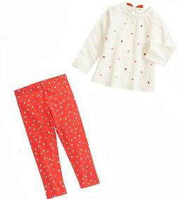 Gymboree Baby Girl 2 pc Set-Top,Legging,Jeans NWT Heart Vale