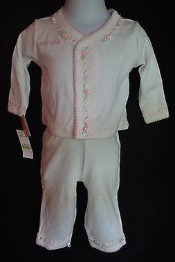 Calvin Klein Baby Girl 0 3 Months Top Pants Outfit Set Pink