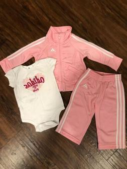 Baby Girl 3 Peice Adidas Tracksuit 6 Months