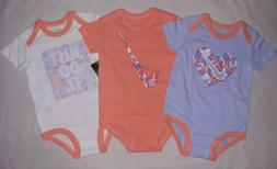 Nike Baby Girl 9-12M 9 12 Month 3 Pack Bodysuits Outfits Inf