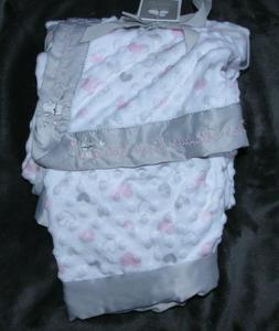 JUST BORN BABY GIRL BLANKET OWL ALWAYS LOVE YOU PINK WHITE G