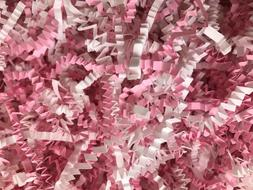 Baby Girl Blend Pink White Shower ~ Crinkle Cut Paper Shred