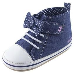 Stride Rite Surprise Baby Girl Blue Maddie Shoes NIB 0-6 6-1