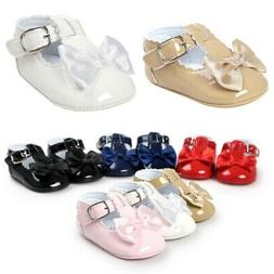 Baby Girl Bow Anti-slip Crib Shoes Soft Sole Sneakers Prewal