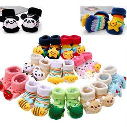 Baby Girl Boy Anti-slip Socks Cartoon Newborn Slipper Shoes