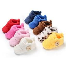 Baby Girl Boy Soft Sole Booties Snow Boots Infant Toddler Ne