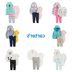 Baby Girl Carters 3-Pc Fall Winter Outfit Jacket Bodysuit To