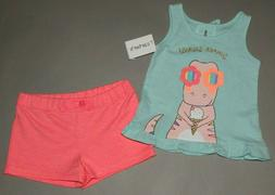 Baby girl clothes, 24 months, Carter's 2 piece set/  SEE DET