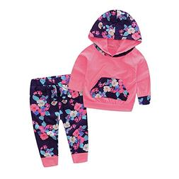 hirigin Baby Girl Clothes 2pcs Daily Wear Hoodie with Pocket