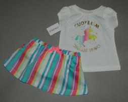 Baby girl clothes, 24 months, Carter's skort set/SEE DETAILS
