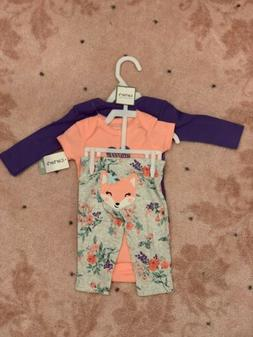 Baby girl clothes, 3 Month , Carter's 3 piece set/New with t