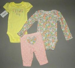 Baby girl clothes, 3 months, Carter's 3 piece set/ CLEARANCE