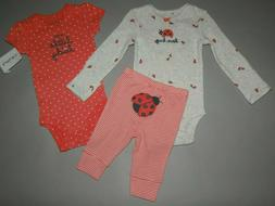 Baby girl clothes, 9 months, Carter's 3 piece set/SEE DETAIL