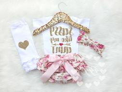 Baby Girl Clothes Baby Girl Outfit Sassy Like My Aunt Gift f