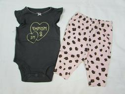 Baby girl clothes, Newborn, Carter's 2 piece set/new with ta