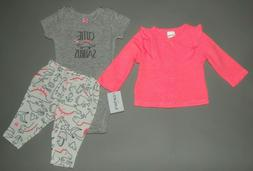 Baby girl clothes, Preemie, Carter's 3 piece set/ 1/2 OFF~~