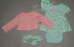 Baby girl clothes, Preemie, Carter's Child of Mine 3 piece s